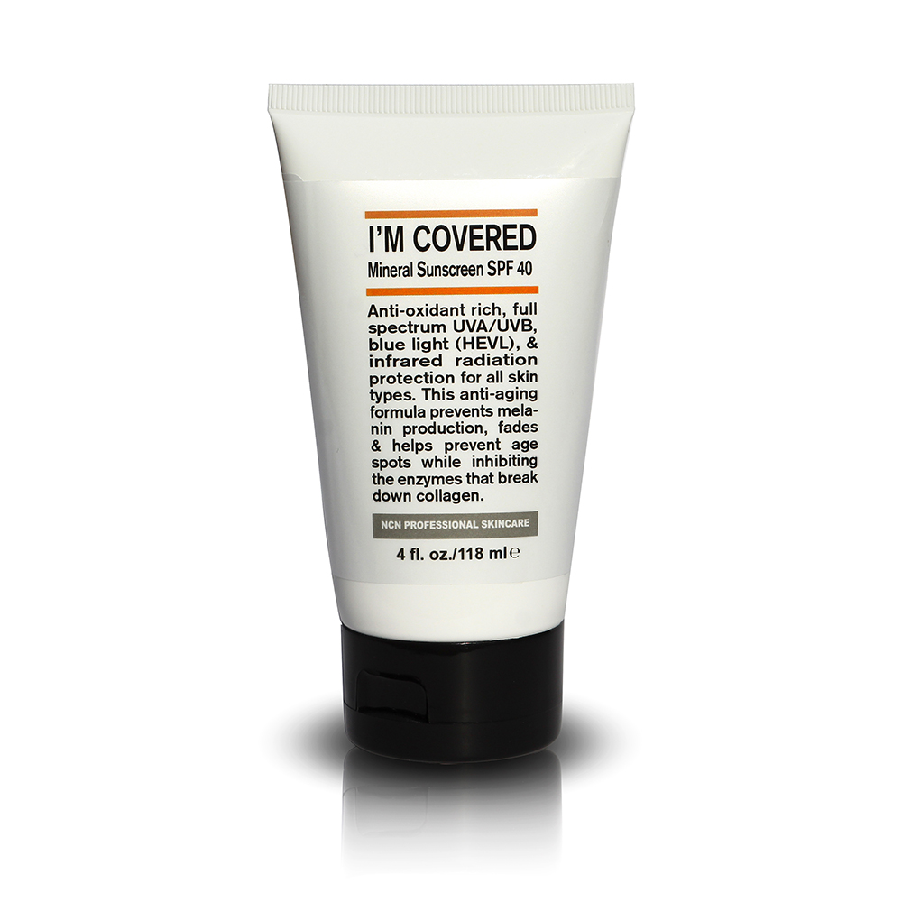 MINERAL SUNSCREEN SPF 40 I'M COVERED - 4 OZ